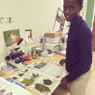 Students learned to identify native plant species to Southeast Mississippi.