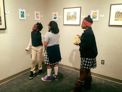 Scholars had their art work on display in a gallery at William Carey University.