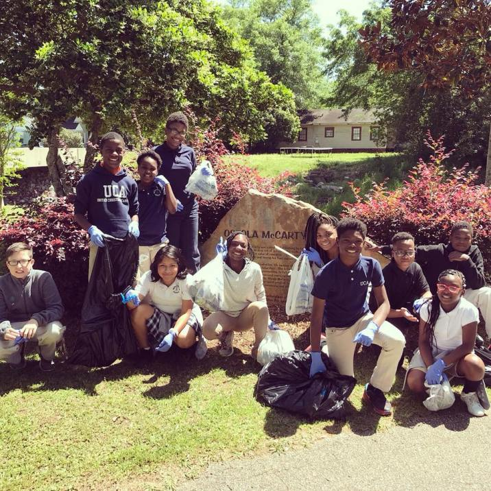 UCA Scholars completed four service projects this year, including cleaning local parks.